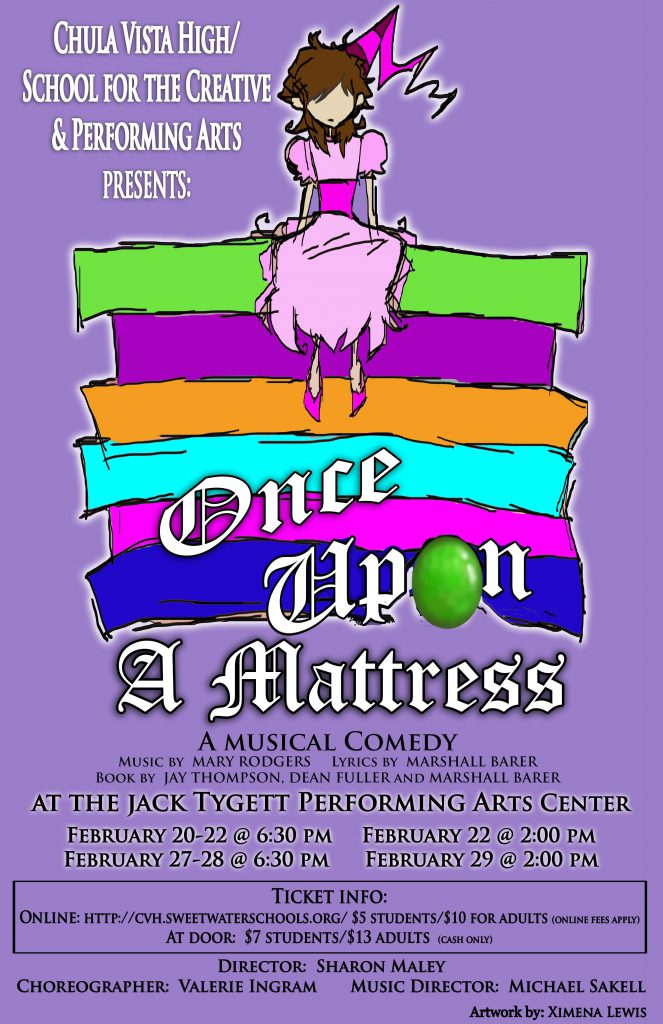 Once Upon A Mattress February 20-29, 2020